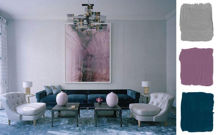 Mauve Navy Gray Living Room New Loft Ideas Pinterest
