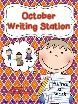 October - Writing Station for Kindergarten $
