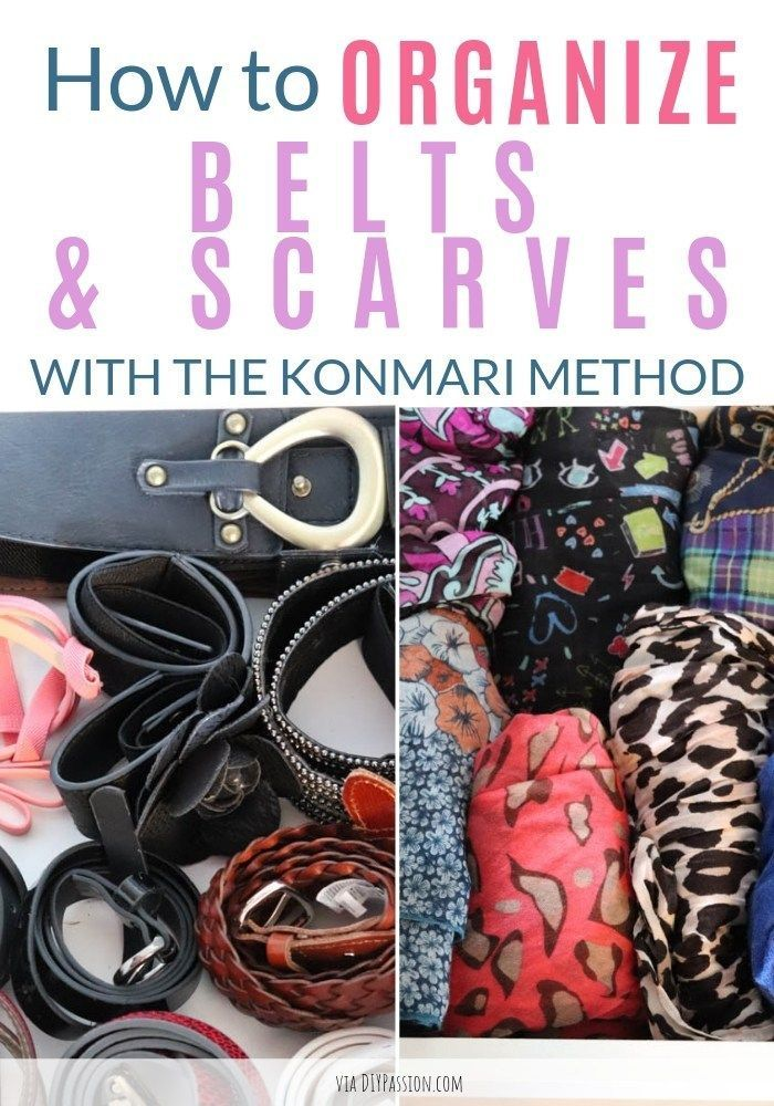 How To Declutter Belts And Scarves With The Konmari Method