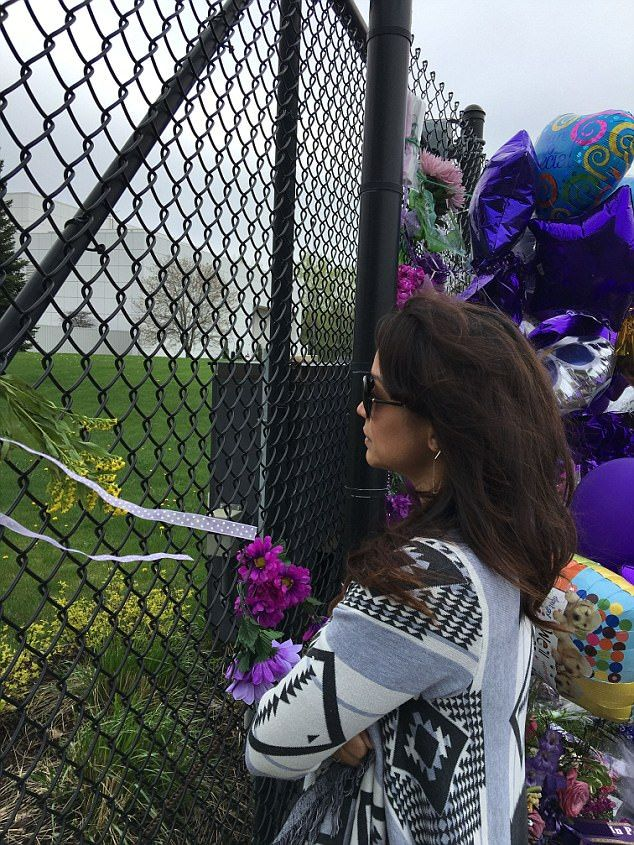 Remembering her man: Garcia at paisley Park in the days after his death...