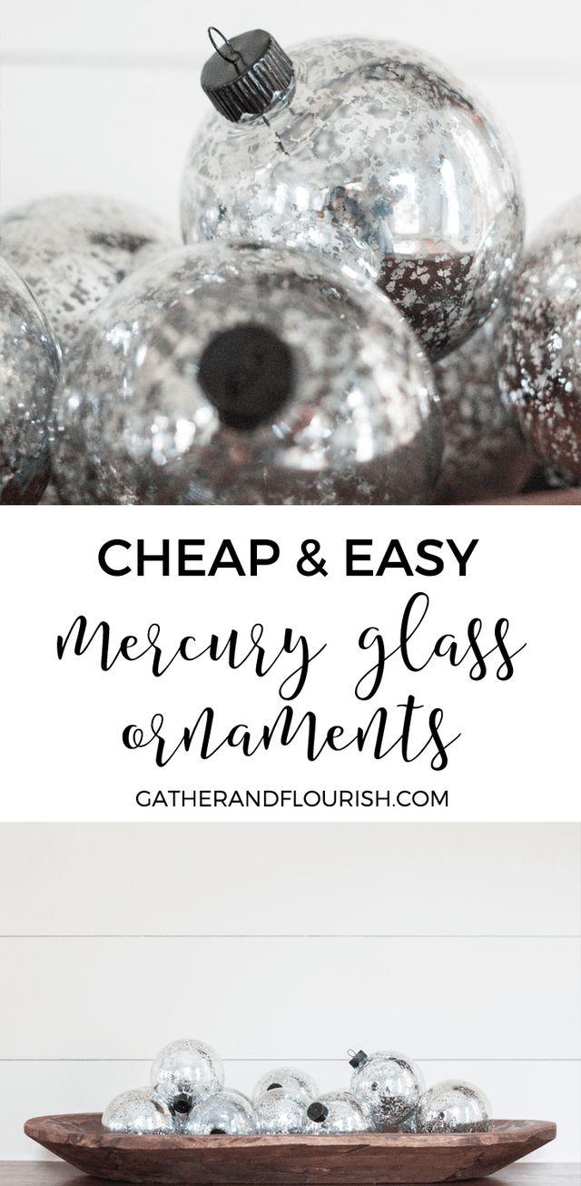 Hobby lobby glass ornaments - Cheap Easy Mercury Glass Ornaments