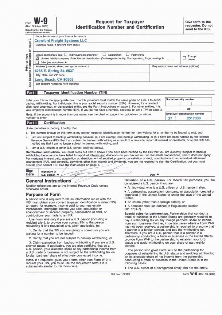 W9 Form To Download W9 Rental Agreement Templates The Rev The Body Book