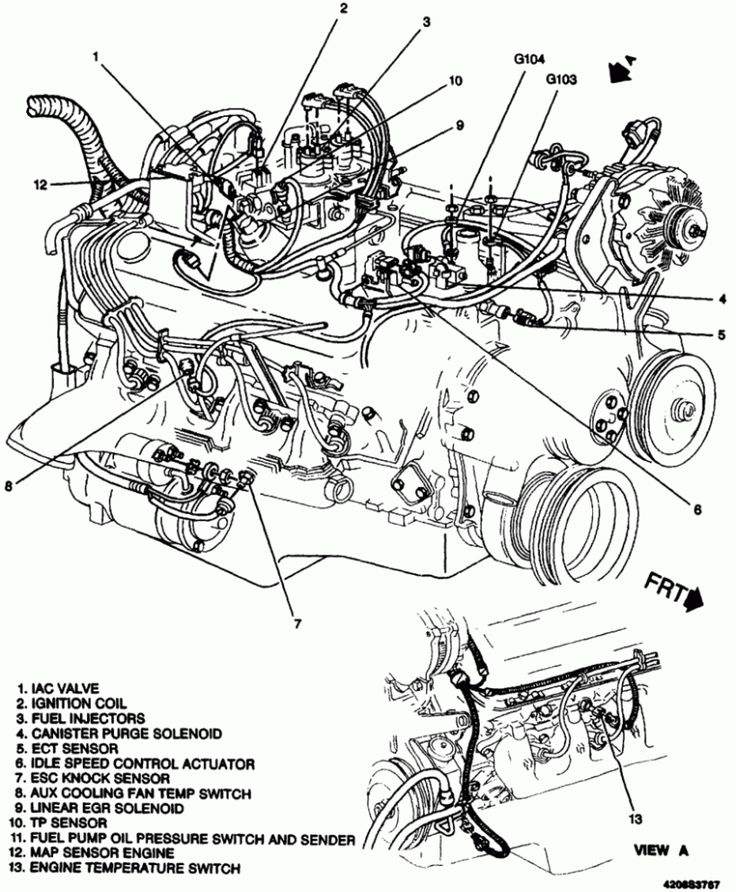 Automobile Engine Parts Diagram