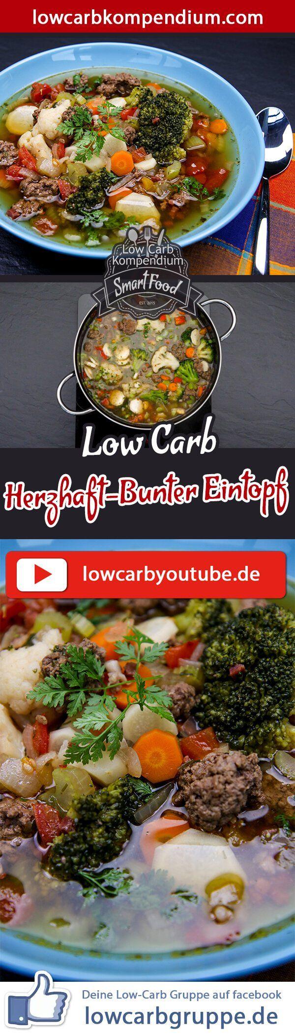 (Low Carb Kompendium) – Eintöpfe sind eine praktische Sache. Man kann große Mengen zubereiten und diese gleich über mehrere Tage genießen. Dieses Rezept zeigt dir wie du einen Herzhaft-Bunten Eintopf in nur kurzer Zeit zubereiten kannst :) Und nun wünschen wir dir viel Spaß beim Nachkochen, LG Andy & Diana.