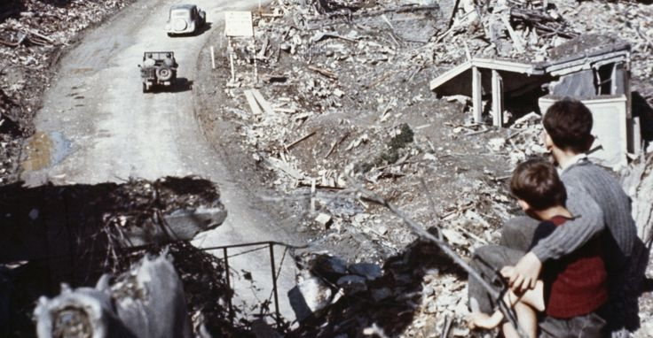 1944, st. lo, france, ruins, d-day invasion, normandy, world war II
