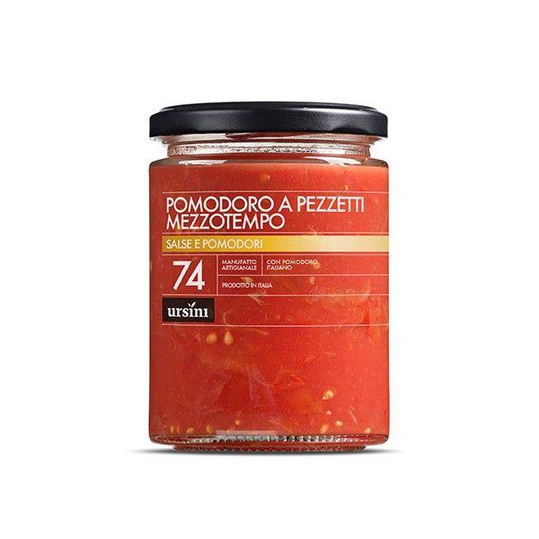 Vendita online | Pomodoro a pezzetti Mezzotempo Vasetto gr. 300 Ursini - Gastronomia - Prodotti Italiani