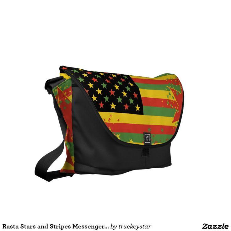 Rasta Stars and Stripes Messenger Bag