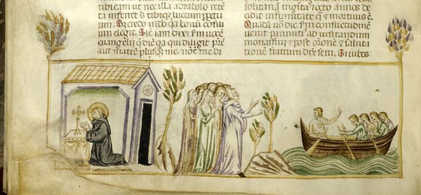 Vitae patrum, MS M.626 fol. 132v - Images from Medieval and Renaissance Manuscripts - The Morgan Library & Museum