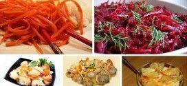 Салаты по-корейски: 5 рецептов! Все вкусно! ТОП-5 самых вкусных овощных салатов: морковь, свекла, цветная и обычная капуста, грибы! Поделитесь подборкой с другом!