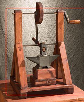 Leonardo da Vinci Exhibit - the Models - Automatic Hammer Machine - Very Cool