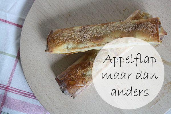 recept voor 'appelflappen' met filodeeg