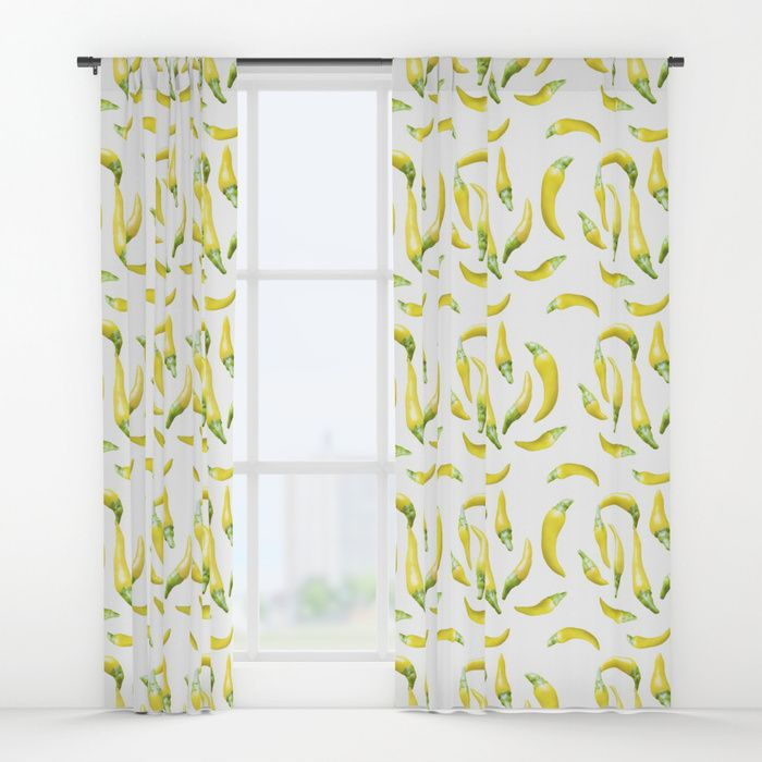 Chilli Pepers Pattern Window Curtains