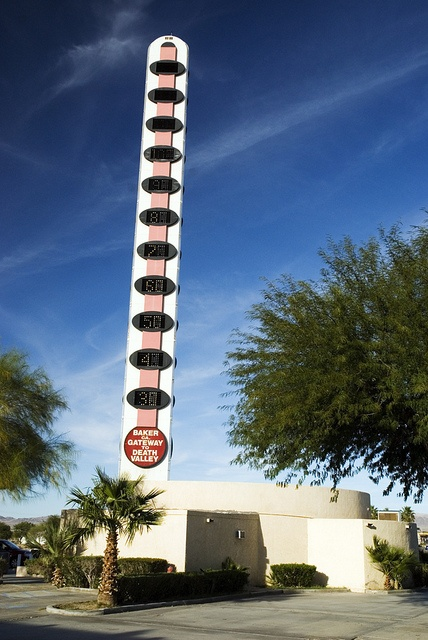 Baker Thermometer, World's largest thermometer...lol Baker California