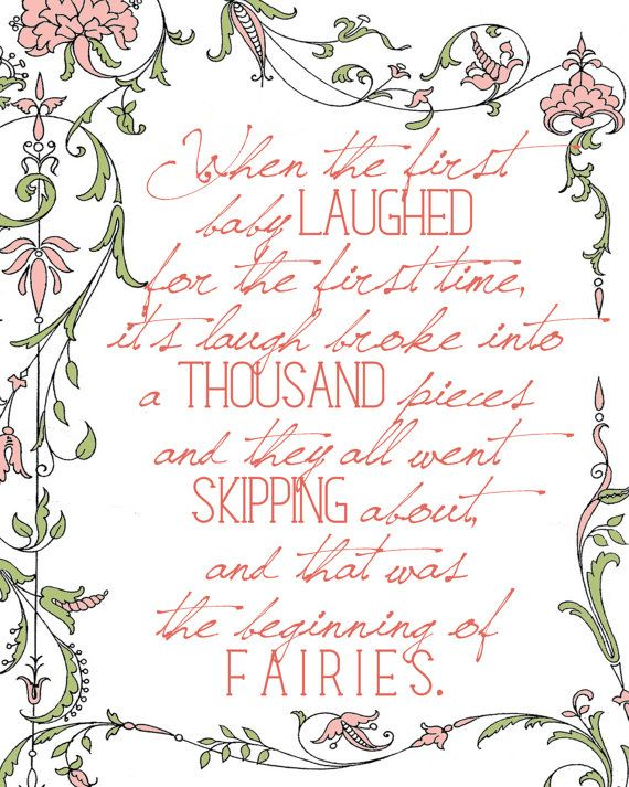 Nursery Decor  Peter Pan  When the first baby laughed by Lexiphilia, $12.00