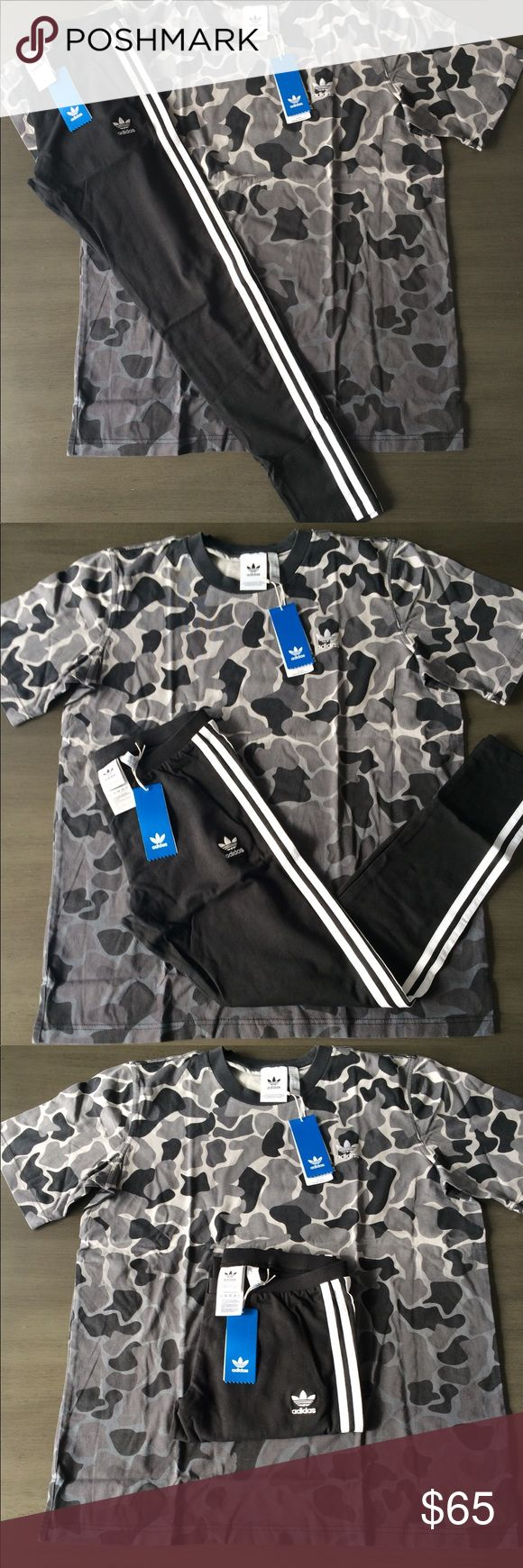 Predownload: Nwt Adidas Outfit Set Tshirt Black Legging Tights Adidas Outfit Tight Leggings Camo Outfits [ 1740 x 580 Pixel ]