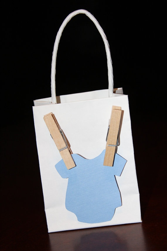 Onesie Baby Shower Favor Bags  Set of 10 by CraftyCoutureMommas, $30.00