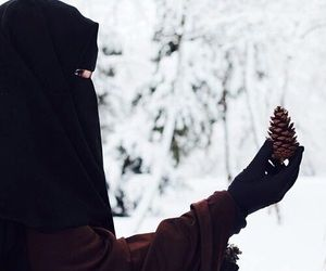 Muslimah in the snow