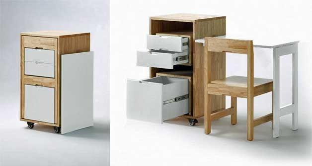 Smart furniture for the small home office   http://www.godownsize.com/smart-office-furniture-small-home/