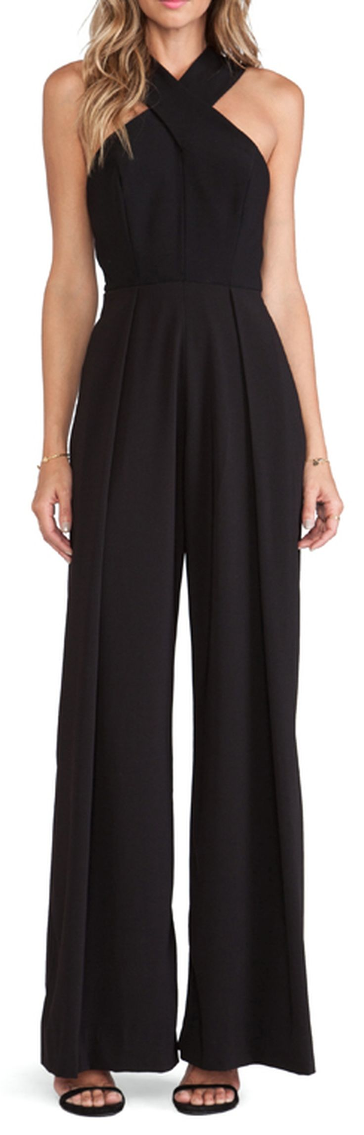 how to wear a black jumpsuit for night out