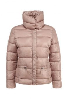 Куртка утепленная Broadway, цвет: бежевый. Артикул: BR004EWGFZ66. Женская одежда / Верхняя одежда / Пуховики и зимние куртки