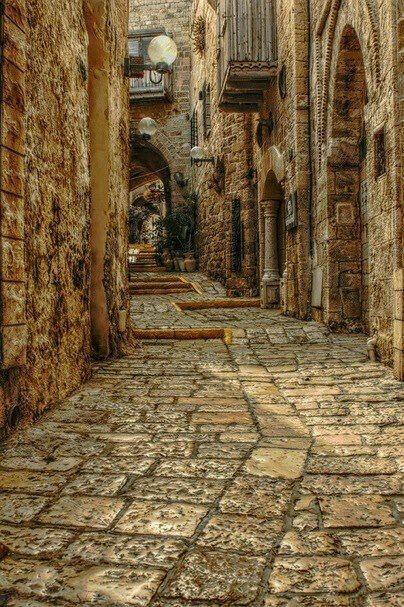 Via Dolorosa. Where Jesus walked through with his cross on his way to calvary.