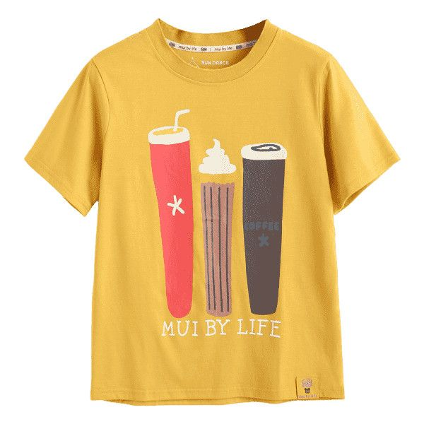 Cute Cartoon T Shirt ($30) ❤ liked on Polyvore featuring tops, t-shirts, cartoon t shirts, yellow t shirt, cartoon character t shirts, comic book and comic tees