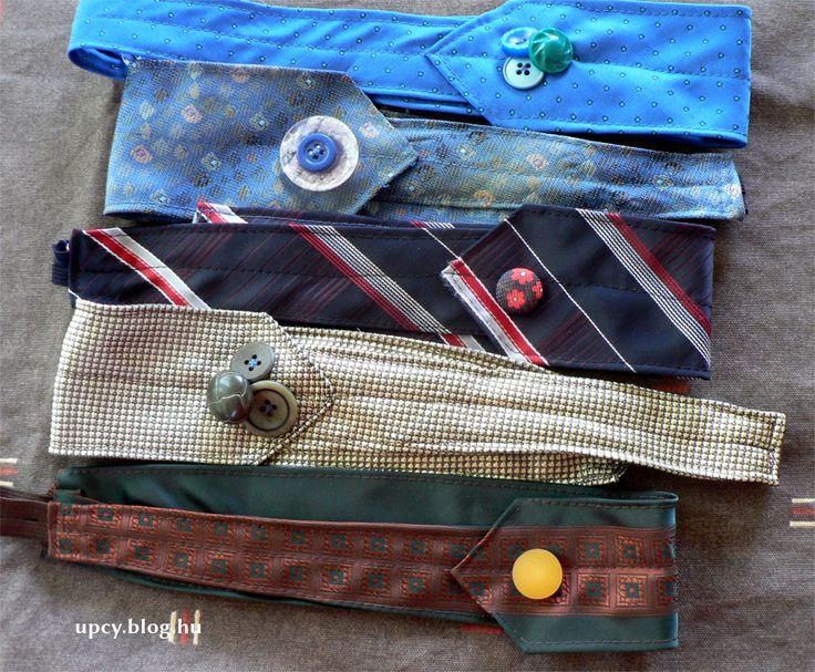Raffta upcycle necktie headband. Nyakkendő hajpánt.