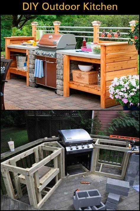 DIY Küche im Freien