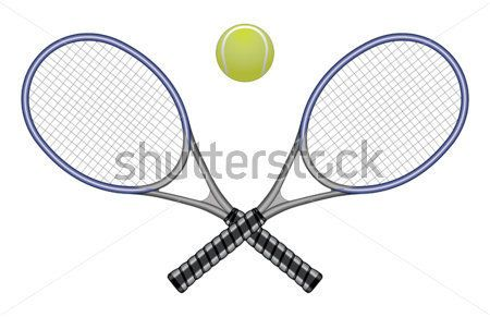 Tenisové Míče & Rakety Je Ilustrace Tenisový Míček A Dvěma Zkříženými Skvělá Volba Pro Návrhy Loga A obrázky - ClipartLogo.com