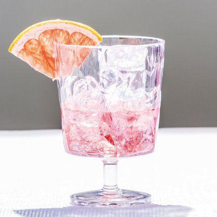 Stiel-Glas 250 ml mit Rautenschliff von Koziol
