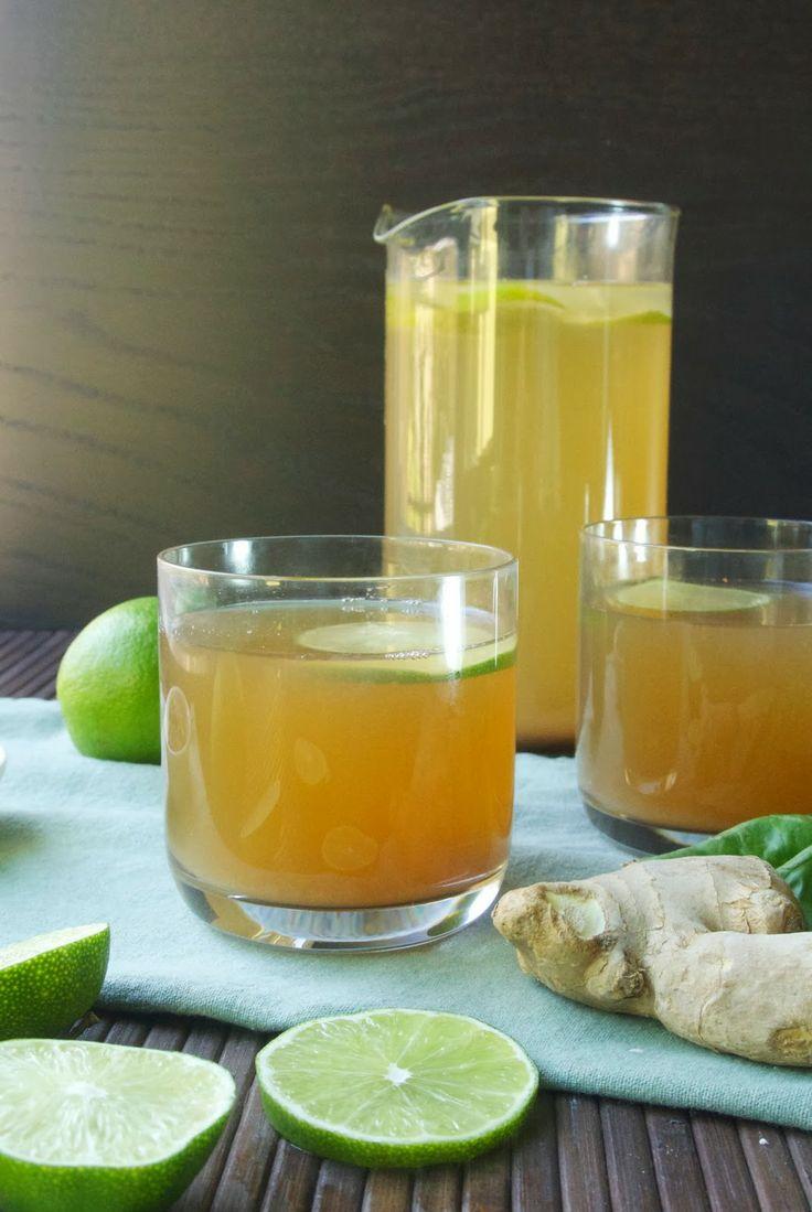Basil ginger tea