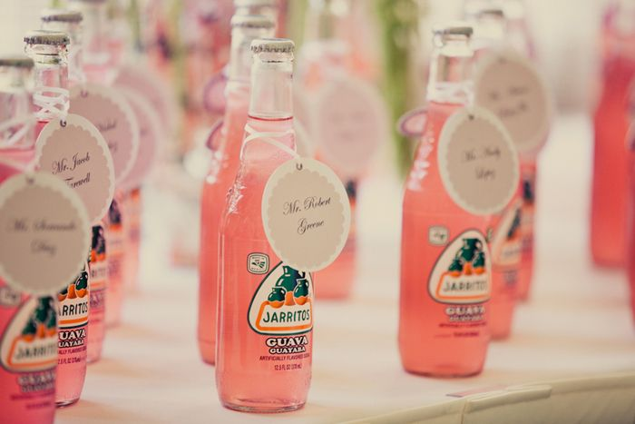 pink guava soda favors | Images by Lindsey Gomes Photography