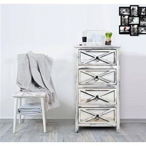 Comodino in legno di Paulownia in stile shabby chic, le imperfezioni del colore sono dovute allo stile vintage del mobiletto. Con 4 cassetti e maniglie in ottone   #shabby #chic #furniture #home #house #design #interior #interiors #restyling #style #makeover #vintage #retro #white #wood #beige #grey #tutorial #idea #ideas #diy #black #friday #blackfriday #cyber #monday #cybermonday #sale #sales #sconti #mobili #arredamento #mobiletto #mobiletti #living #room #bedroom