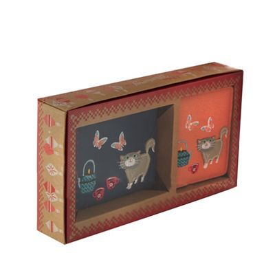 Mantaray Mullti-coloured cat coin purse and card holder gift box | Debenhams