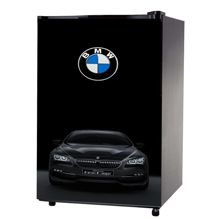 Bmw Black With Car Mini Fridge Front Wrap Sticker