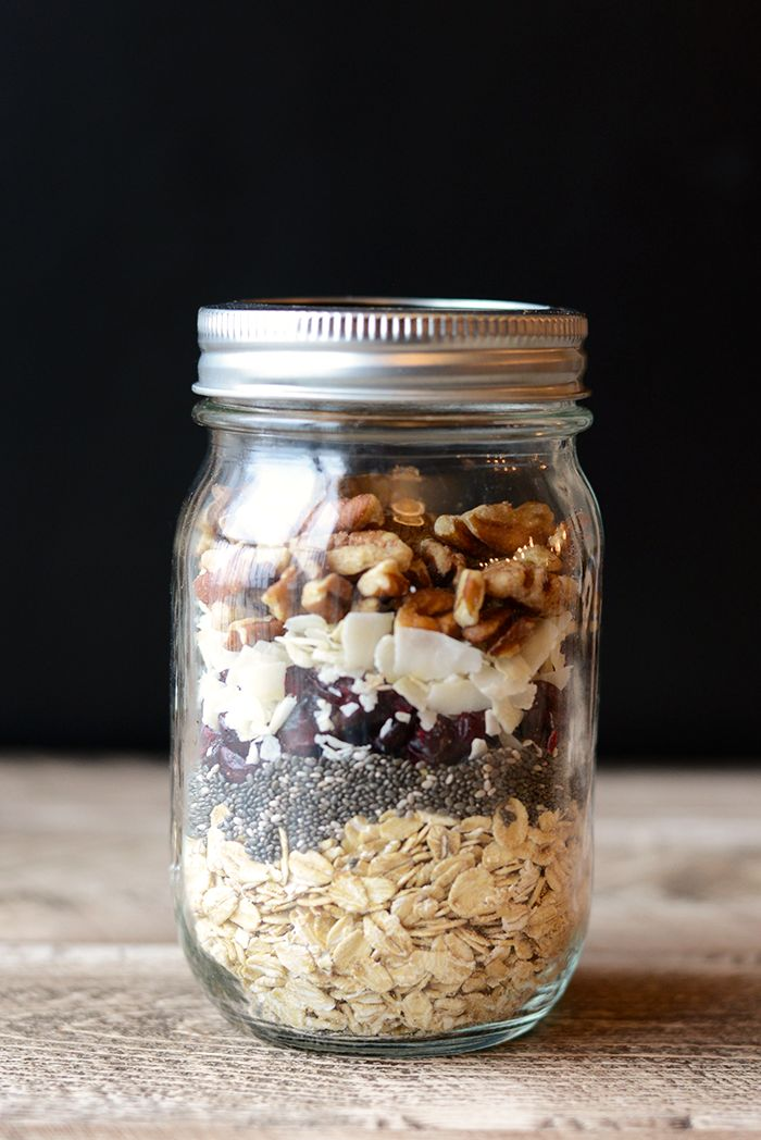 Holiday Diy In A Jar Cranberry Pecan Overnight Oats