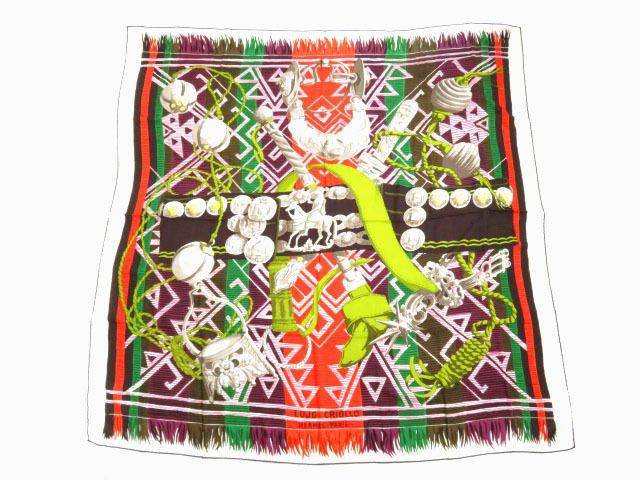 Hermes Scarf Cashmere/Silk Carre140 LUGO CRIOLLO AUTHENTIC #Hermes #Scarf