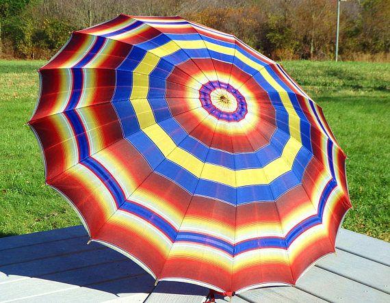 Vintage Umbrella Parasol Bakelite Handle Apple Juice Carved