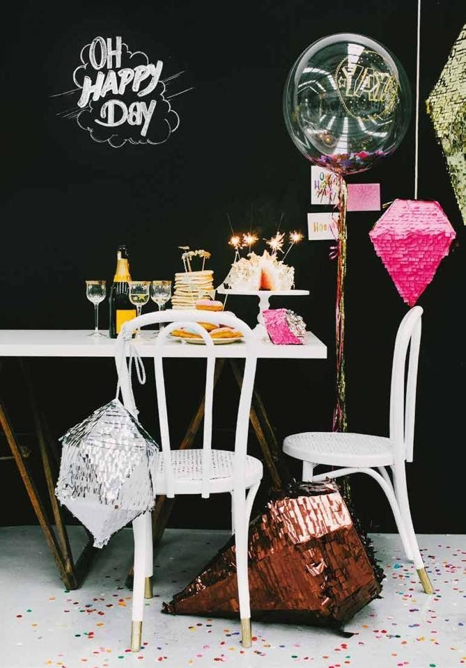 Oh Happy Day alright! DIY pop-up-party shoot styled by Ashdown & Bee for Hitched Mag. Featuring geometric Party Pony pinata's.