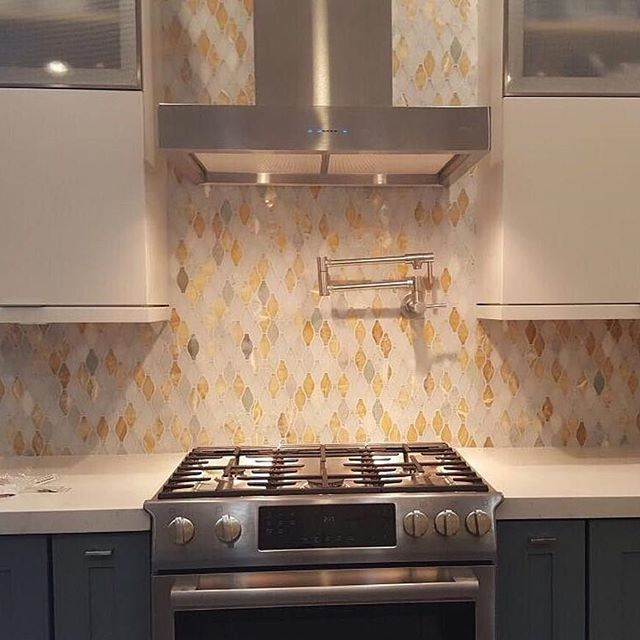 Iota Mossy Aura Glass And Marble Tile From TileBar