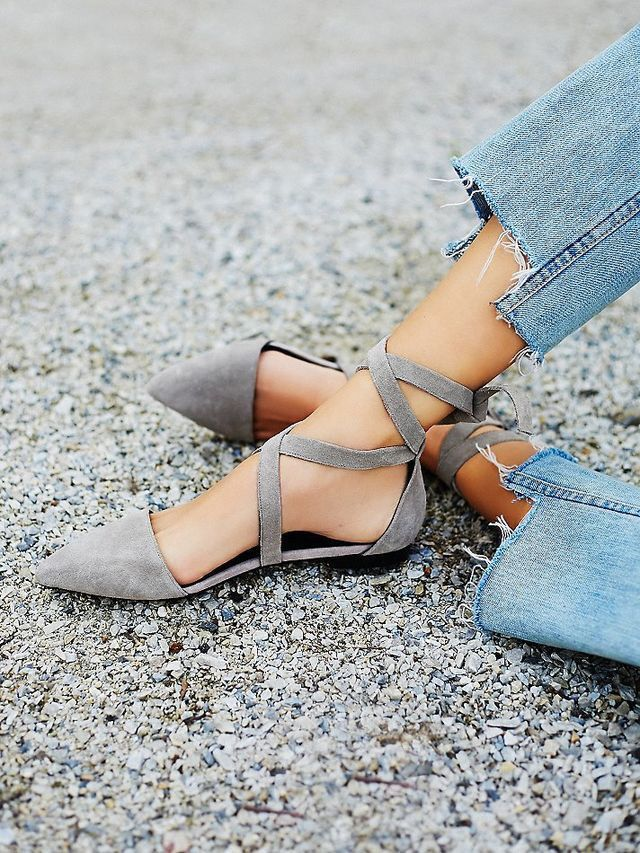 Strappy flats.