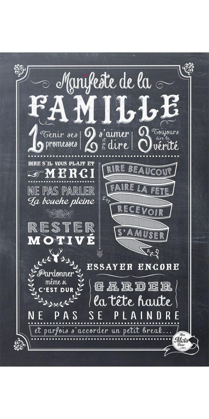 Manifeste de la Famille - affiche - mes mots deco