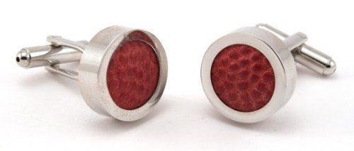 Football Cufflinks - Made using an Authentic Ball The Rusted Key. $45.00