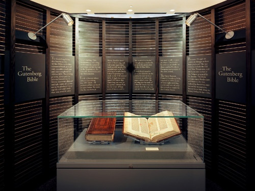 Gutenberg Bible Exhibit in Austin, Texas - very smart, and elegant