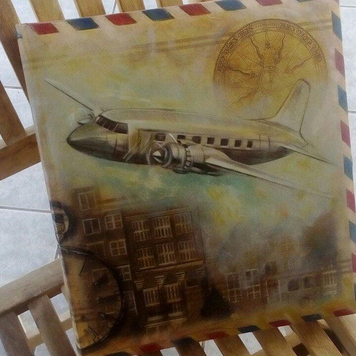 BON VOYAGE... Handmade, hand painted book bound album...