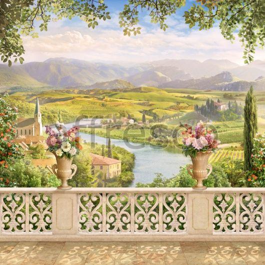 Заказать как фреску или фотообои, балкон Прованс