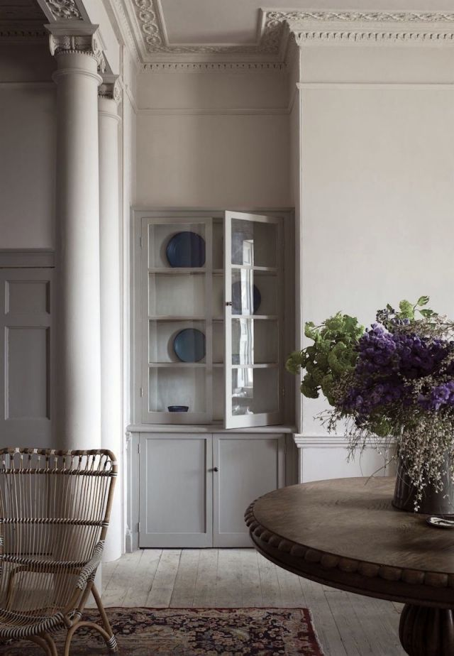 Peignoir by Farrow and Ball.  Laurel Bern Interior recommends Portland Gray 2109-60 by Benjamin Moore as a nearest match.