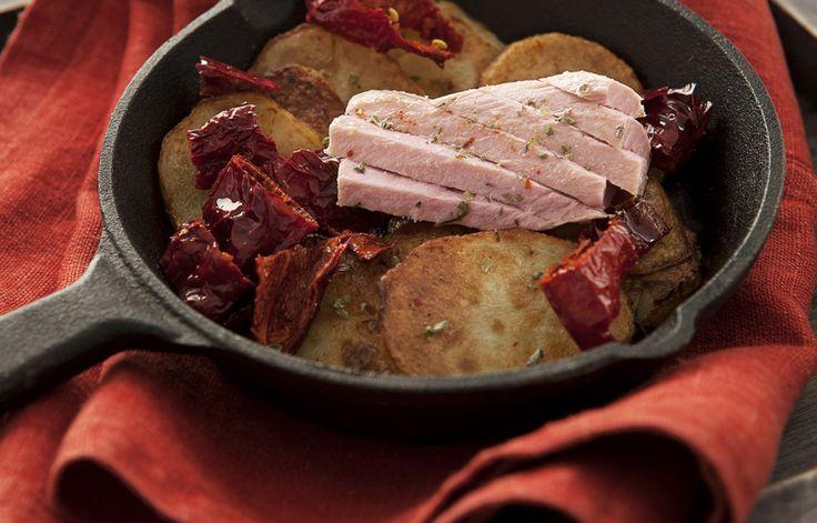 Ricetta Patate sautè con peperoni cruschi e filetti di tonno - Le ricette de La Cucina Italiana