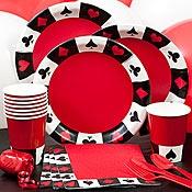 Casino party tableware