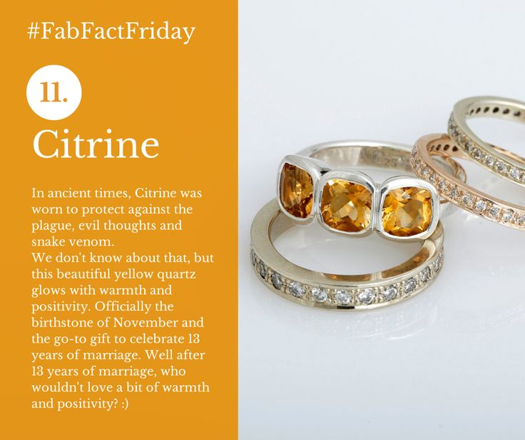 Citrine - the birthstone associated with November - Rings by Scarab Jewellery